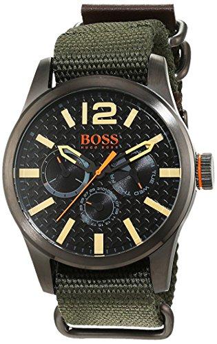 Hugo Boss Orange Paris Herren-Armbanduhr Quartz mit Textil Armband 1513312