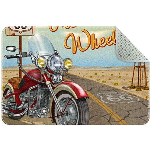 Tapis légers Affiche de Moto Tapis de Sol Tapis Souple pour la Maison