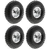 MasterPart Pneumatic 10' Sack Truck Wheelbarrow Tyres Trolley Wheel Cart Tyre Wheels - 4 Pack