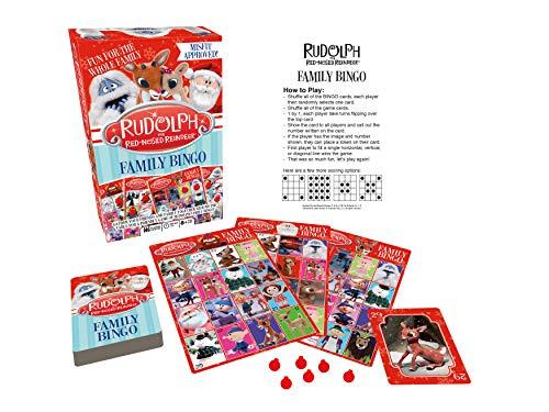 Aquarius Rudolph The Red Nosed Reindeer Family Bingo, Multicolor
