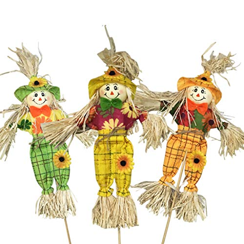 catyrre 3Pcs 15.7 Inch Halloween Scarecrow Standing Decor, Herbst Theme Thanksgiving Dekoration Dekorationen