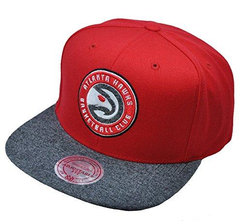 Mitchell & Ness Atlanta Hawks Red Melange Fill Snapback