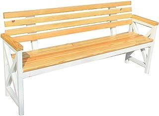 Household appliances Park Patio Gartenbank für Gartenmöbel, Metallrahmen Veranda Balkon Sitz Stuhl Bank mit Rückenlehne, Garten Platz Veranda Weg Hof Rasen Dekor Bank Stuhl für 2-3 Personen Sitz