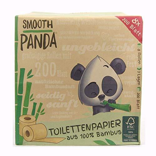 6x Smooth Panda Toilettenpapier 100% Bambus 3 lagig 8 x 200 Blatt