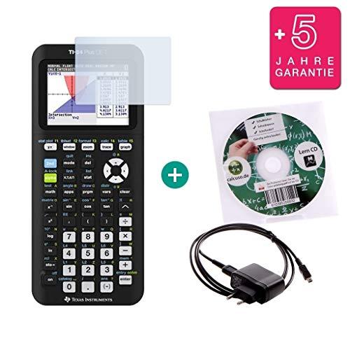 TI-84 Plus CE-T + Lern-CD (auf Deutsch) + Erweiterte Garantie + Displayschutzfolie + Ladekabel