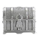 Antique Pirate Treasure Chest Antique Wedding Jewelry Gift Box Boîte de Rangement en Alliage de Zinc