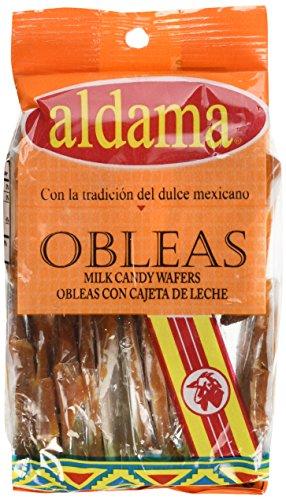 Obleas con cajeta aldama chicas - wafer with milk candy - dulces típicos de dulce de leche paquetes con 20 piezas cada uno.