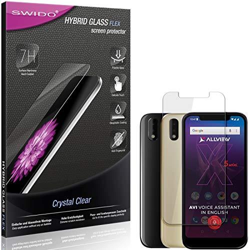 SWIDO Panzerglas Schutzfolie kompatibel mit Allview Soul X5 Mini Bildschirmschutz-Folie & Glas = biegsames HYBRIDGLAS, splitterfrei, Anti-Fingerprint KLAR - HD-Clear