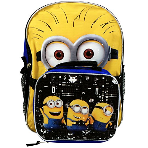 Despicable Me 3 Backpack 16' with Lunch KitPrism Printing