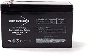 Bright Way Group 12V 7 Amp F2 Terminal Rechargeable Lead Acid Battery | BW1270 F2