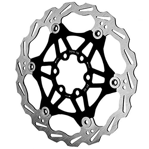 Runfun Aleación Centro Bicicleta del Rotor del Freno De Disco De Bicicletas De Bloqueo De Aluminio De Acero De 160 Mm Negro Mountain Bike MTB Accesorios De Bicicletas