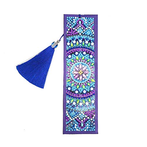 Hava Kolari Diamond Painting Set, 5D Diamant-Malerei Lesezeichen Eule Mandala Full Stickerei DIY Diamonds Malerei, 21x6cm (Mandala)