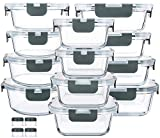 Best Tupperware Sets - 24-Piece Glass Food Storage Containers with Upgraded Snap Review