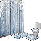 Juego de cortinas baño Accesorios baño alfombras Invierno...