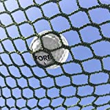 FORB Red Impacto para Jaulas de Golf | Mallas Protectoras para Campos/Jardín | Red de Práctica Estándar o Tiro al Arco (Verde/Blanco – 5 Tamaños) (Verde - Estándar, 3m x 3m)
