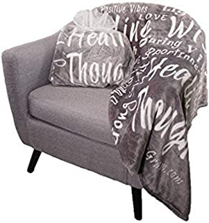 Blankiegram Healing Wishes Throw Blanket The Perfect Caring Gift (Grey)