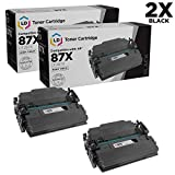 LD Compatible Toner Cartridge Replacement for HP 87X CF287X High Yield (Black, 2-Pack)