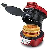 Tostadora?Sandwich Maker Calidad Quick Hamburger Desayuno Sandwich Maker Máquina Muffins Queso Sandwich Máquina de acero inoxidable, red stainless steel
