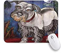 KAPANOUマウスパッド シュナウザー犬ムーンアート絵画 ゲーミング オフィス最適 高級感 おしゃれ 防水 耐久性が良い 滑り止めゴム底 ゲーミングなど適用 マウス 用ノートブックコンピュータマウスマット