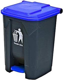 ZXJshyp WQEYMX Outdoor Trash can Plastic flip Trash can Wheeled Trash can (Color : Blue, Size : 68L)