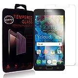 Ycloud Protector de Pantalla para Alcatel Pop 4S (5.5 Pulgada) Cristal Vidrio Templado Premium [9H Dureza][Alta Definicion]