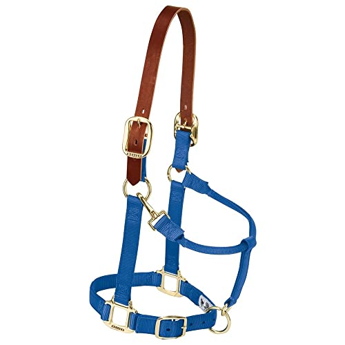 "Weaver Leather Original 1/"" Horse Adjustable Throat Snap Nylon Diva Pink Halter"