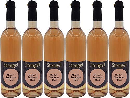 Sekt- und Weinmanufaktur Stengel Muskattrollinger Weißherbst Muskat Trollinger Rosé Wein Lieblich (6 x 0.75 l)