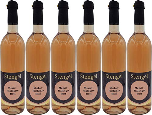 Sekt- und Weinmanufaktur Stengel Muskat Trollinger Rosé Wein Lieblich (6 x 0.75 l)