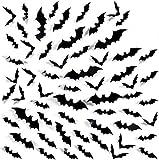 UMIPUBO Halloween Pegatinas para Pared 3d Murciélagos Realista Halloween Decoración Pared Pegatinas Props 60 pcs (halloween pegatinas)