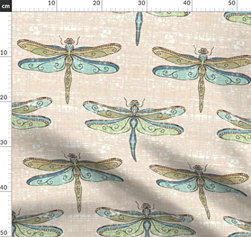 Libellen, Struktur, Natur Stoffe - Individuell Bedruckt von Spoonflower - Design von Designed By Debby Gedruckt auf Baumwollstoff Klassik