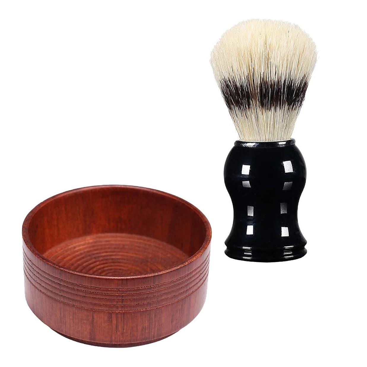 入学するラボドレス全3スタイル シェービングブラシセット シェービングボウル メンズ用 理容 洗顔 髭剃り プレゼント - 03, 説明のとおり