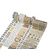Eachbid Nastro Adesivo Decorativo Washi Vintage Fai-da-Te per Diario Agenda Scrapbooking Tape Sticker Set di 6 Rotoli