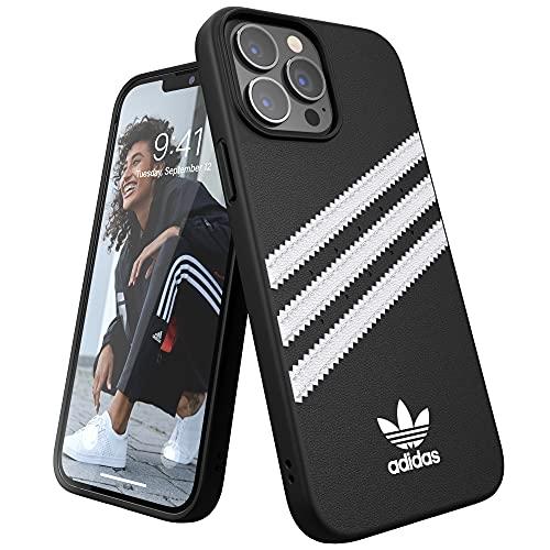 adidas Funda Teléfono Diseñada para iPhone 13 Pro MAX, Fundas Probadas contra Caídas, Bordes Elevados a Prueba De Golpes, Funda Protectora, Negro y Blanco