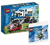 Collectix Lego 60276 - Juego de transporte de prisioneros Lego City y helicóptero de policía Lego City 30367, set de regalo a partir de 5 años