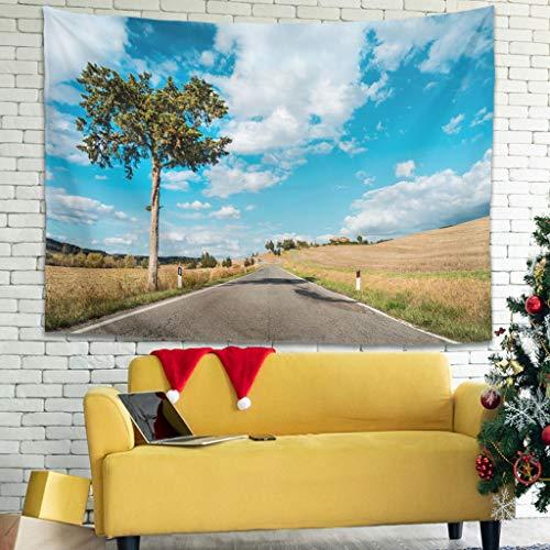 O3XEQ-8 - Tapiz impreso en la Toscana (150 x 150 cm), diseño de paisaje de estudiantes