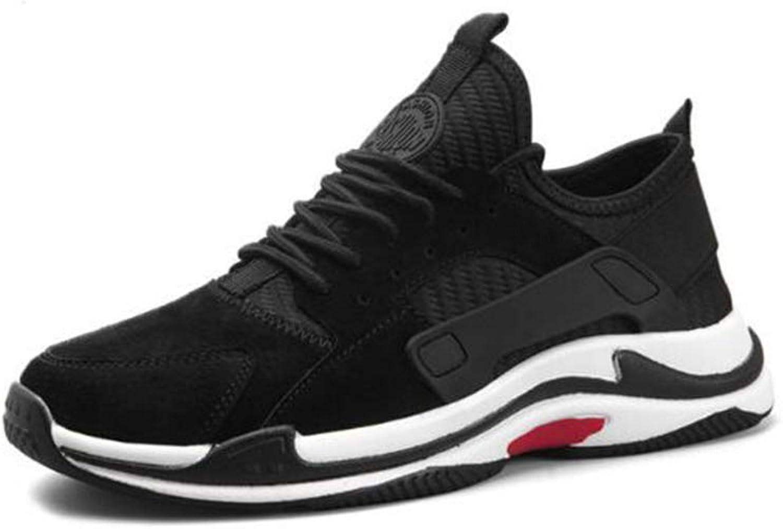 Willsego Mnner Neue Leder Casual Mesh Sportschuhe Atmungsaktive Laufschuhe Mode Sportschuhe Groe Schuhe (Farbe   Schwarz, Gre   40 EU)