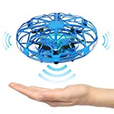 VARUN Indoor Mini Hand Operated Drone Easy 360 Degree Rotating Small Flying Ball Helicopter for 4,5,6,7,8,9,10,11 Year Old Kids Girls and Boys and Adults (Blue)