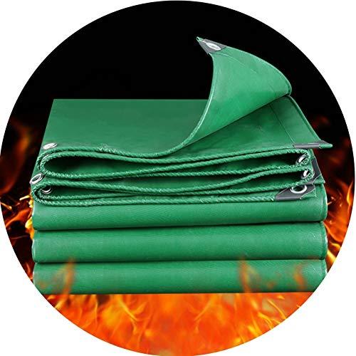 GDMING Lonas, Retardante De Llama Manta De Aislamiento, Impermeable A Prueba De La Intemperie Tarea Pesada Exterior Hoja Cubrir por Industria Cortafuegos, 16 Tamaños (Color : Green, Size : 2x4m)