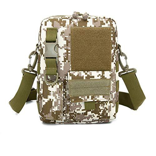 Multifunktionstasche, Outdoor-Freizeit-Umhängetasche, Camouflage-Cross-Body-Tasche, Sporttasche, Reisetasche, taktische Tasche für Damen und Herren, 25 x 20 x 7 cm, 5 Farben Gr. Einheitsgröße, 004