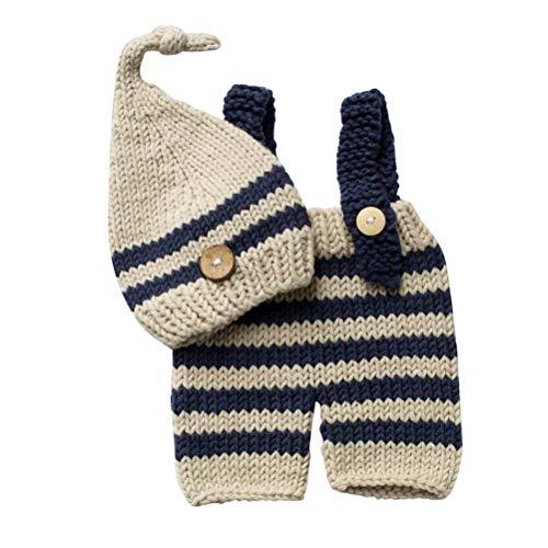 YeahiBaby Neugeborene Baby Fotografie Requisiten häkeln Kostüm Hüte Outfits Kleinkind Photoshoot Sets
