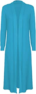 Rimi Hanger Womens Ladies Long Sleeve Maxi Boyfriend Cardigan Open Front Floaty Long Top Small/3X Large