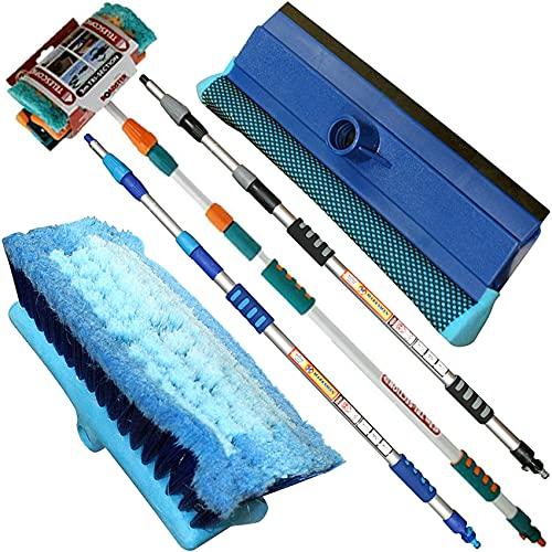 NTI 3M PREMIUM Heavy Duty ALUMINIUM TELESCOPIC Water Fed 9.8 Feet...