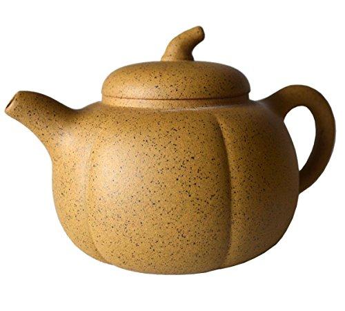Teekanne, 237 ml, chinesische Yixing-Zisha-Teekannen, Sesamgelber Schlamm