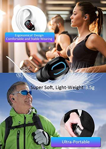 bakibo Auricolari Bluetooth 5.0 Senza Fili, TWS Ear-in Cuffie con Custodia di Ricarica Portatile, Cancellazione del Rumore 3D, Ipx7 Impermeabile, Mic-Incorporato, per Correre, Andare in Bicicletta