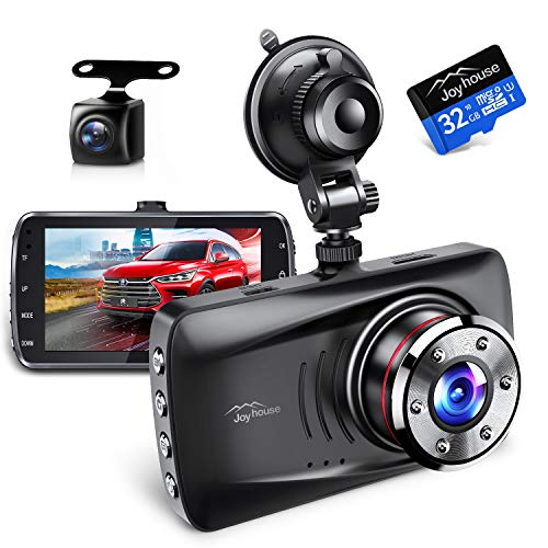 【Sonyセンサー&赤外線暗視ライト】 ドライブレコーダー 前後カメラ 1296PフルHD高画質 170度広角視野 操作簡単 高速起動 駐車監視 常時録画 上書き録画 G-sensor HDR/WDR技術 小型ドラレコ 32GB SDカード付き 日本語取扱説明書 12ヶ月安心保証 (black)