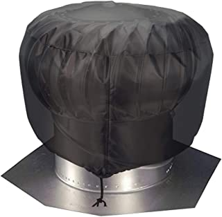 Vent Cover, Durable & Lightweight Roof Ventilator Cover, Turbine Roof Cover, Universal Turbine Vent Cover (S: 12