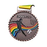 soloplay Medallas del partido de fútbol, medallas para los premios deportivos, doradas, plateadas y cobre, medalla conmemorativa para deportes,...