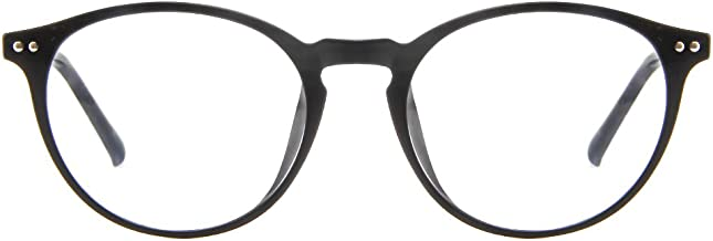Cyxus Blue Light Blocking [Lightweight TR90] Glasses for Reduce Eye Strain Headache Computer Eyewear, Men/Women (Matte Black)