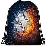 Roman Lin Gym Cordon Sacs Léger Toile Sacs De Danse Sac À Dos Sport pour Hommes et Femmes Balle de Baseball Creative
