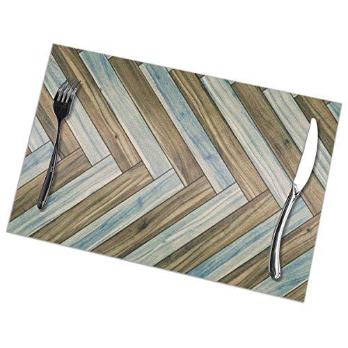 Tommy Warren Holz Parkett Textur Tischmatte Tischsets für Küche Dining Home